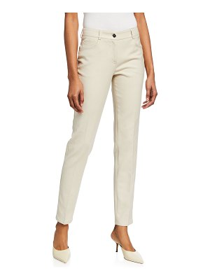 Akris Magda Slim-Leg Ankle Pants
