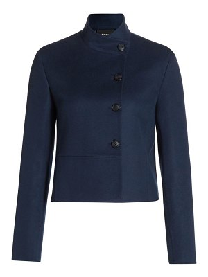 Akris manhatten cashmere double face short jacket