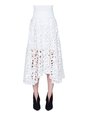 Akris Marker Embroidered Maxi Skirt