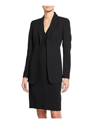 Akris Odette Long Wool Blazer Jacket