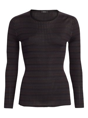 Akris plaid rib-knit sweater