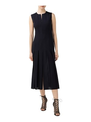 Akris pleated wool blend midi dress