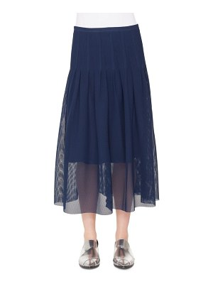 Akris punto 3d lace midi skirt