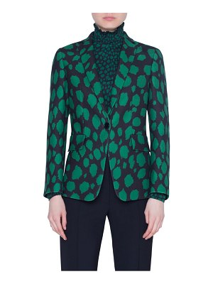 Akris punto animal dot print wool jersey jacket