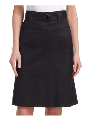 Akris punto belted a-line skirt