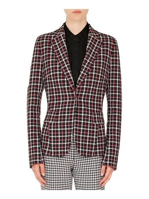 Akris punto checked single-button blazer