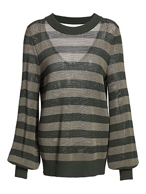 Akris punto colorblock wool turtleneck sweater