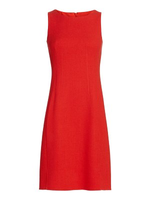 Akris double-feace wool crêpe sheath dress