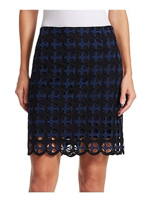 Akris punto eyelet lace skirt