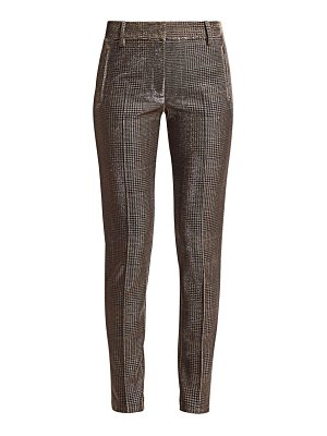 Akris punto fabia metallic lurex glen check jersey pants