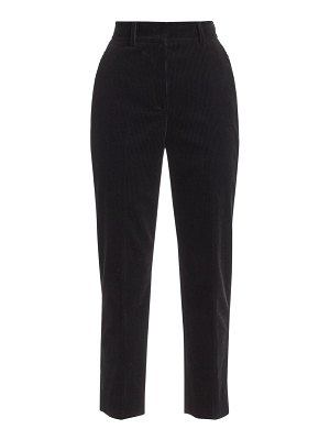 Akris punto ferry corduroy high-waist pants