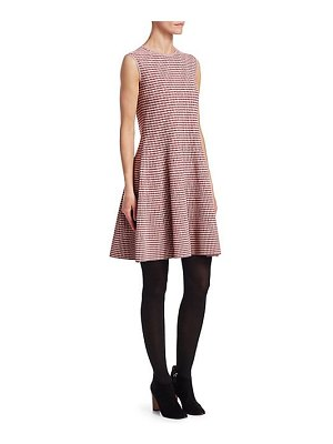 Akris punto fit-&-flare houndstooth dress