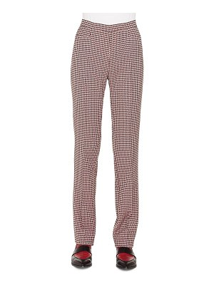 Akris punto Francoise Straight-Leg Side-Zip Houndstooth Jersey Pants