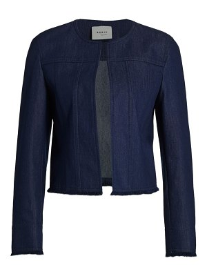 Akris punto fringe-trimmed denim jacket