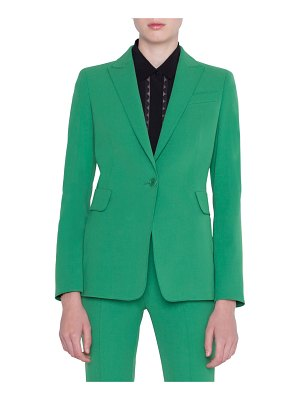 Akris punto Gabardine One-Button Blazer