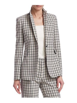 Akris punto glen check blazer