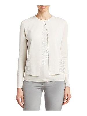 Akris punto Magic Sequins Cashmere Cardigan