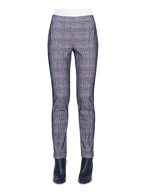 Akris punto mara glen plaid flocked jersey pants