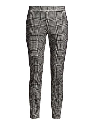 Akris punto mara glen plaid flocked trousers