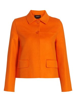 Akris maureen double-faced cashmere short jacket