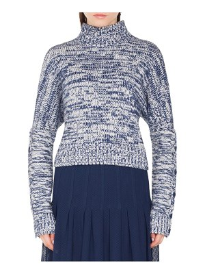 Akris punto melange knit turtleneck sweater