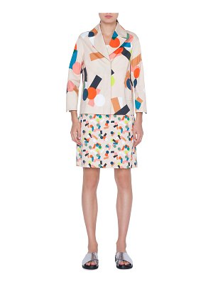 Akris punto Memphis Bell Air Printed Cotton Blazer