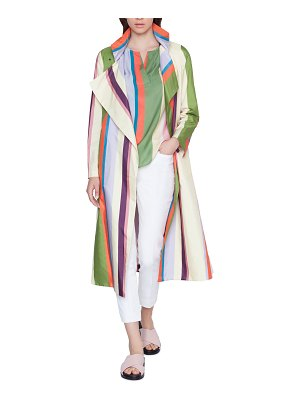 Akris punto Memphis Glass Striped Raincoat