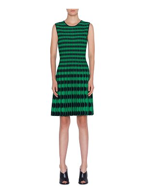 Akris punto Memphis Scalloped Intarsia Sleeveless Dress