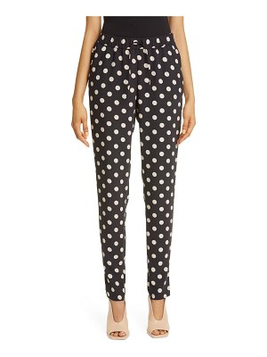 Akris punto mike dot drawstring crepe pants