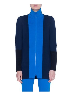 Akris punto milano knit stretch wool long cardigan