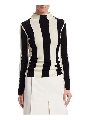 Akris punto striped wool turtleneck