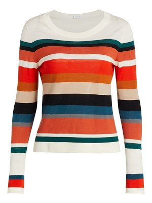 Akris punto mulicolor striped long sleeve sweater