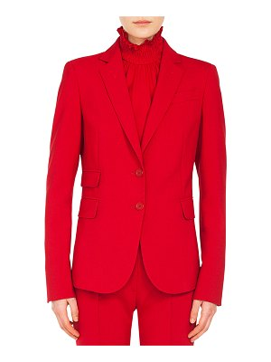 Akris punto Notched-Lapel Two-Button Stretch-Crepe Blazer