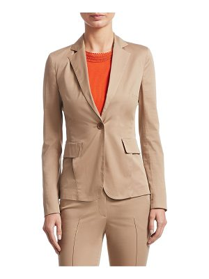 Akris punto one-button lapel collar blazer