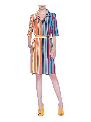 Akris punto parasol stripe shirtdress