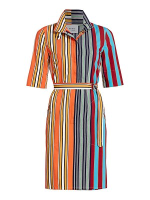 Akris punto parasol striped shirtdress