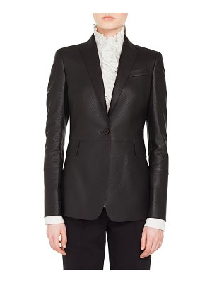 Akris punto perforated leather blazer