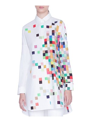 Akris punto Pixelated Print Button-Front Tunic