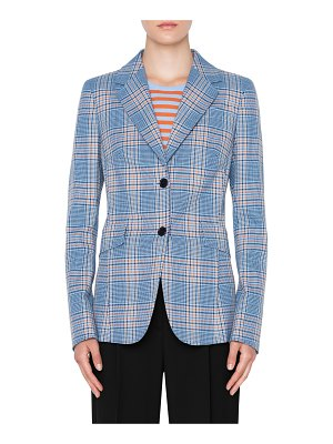 Akris punto plaid blazer