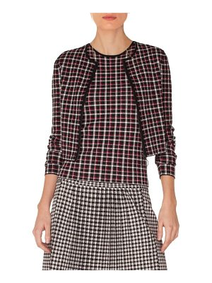 Akris punto plaid cardigan bolero