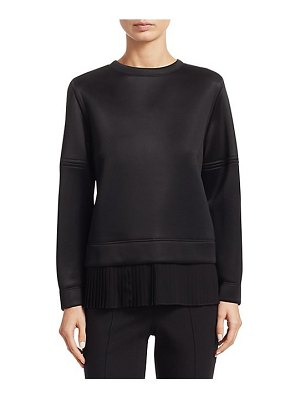 Akris punto pleated front hem sweatshirt
