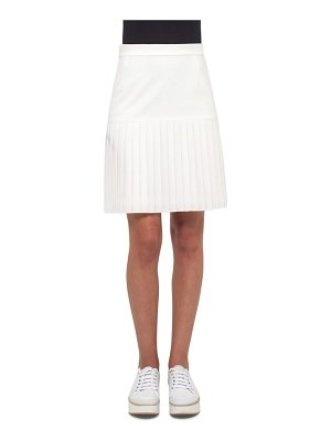 Akris punto pleated hem skirt