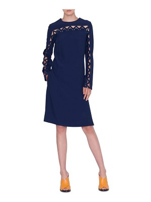 Akris punto scallop wave cutout dress