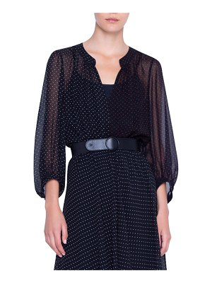 Akris punto Silk Crepe Patchwork Dress