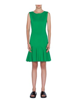 Akris punto Sleeveless Drop-Waist Crepe Dress
