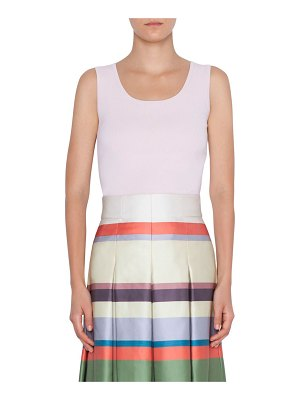 Akris punto Sleeveless Fitted Knit Top