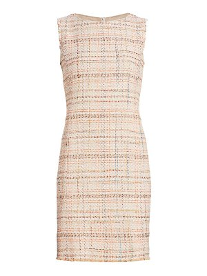 Akris punto sleeveless tweed shift dress