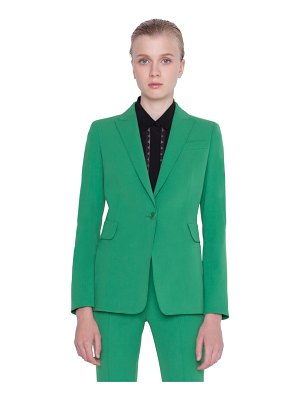 Akris punto stretch wool gabardine blazer