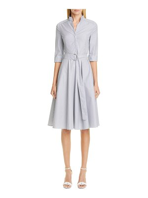 Akris punto stripe poplin midi shirtdress