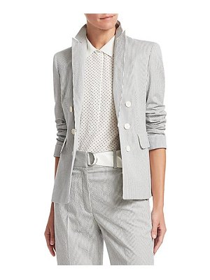 Akris punto striped double-breasted blazer